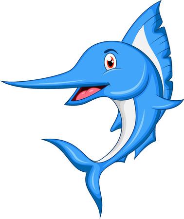 황새치: 말린 물고기 만화 일러스트