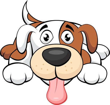 Schattige hond cartoon