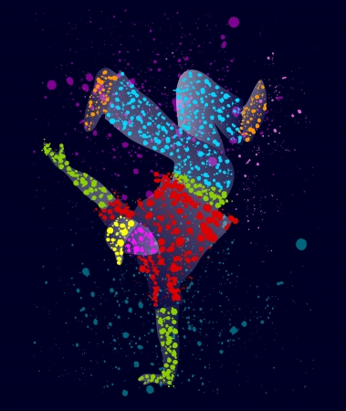 disco party: Abstract male dancer