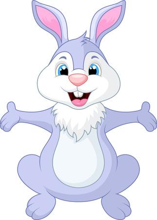 wild rabbit: Cute rabbit cartoon