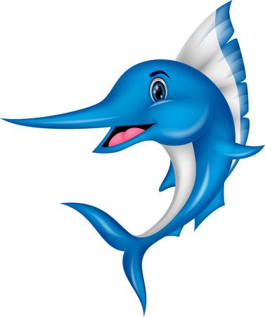 Marlijn vissen cartoon Stockfoto - 27392460