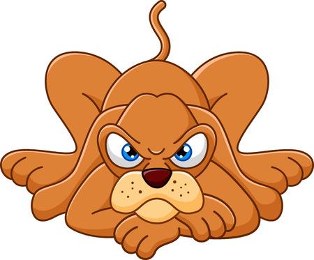 perro caricatura: Perro de la historieta linda que se acuesta