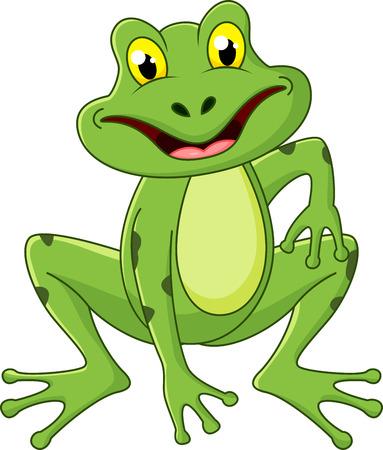 leapfrog: Cute dibujos animados de la rana Vectores