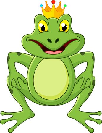Prince frog cartoon  Vector