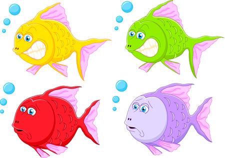 peces caricatura: Colección de dibujos animados de pescado
