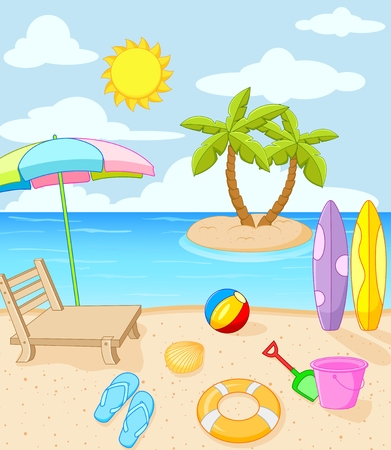 Tropical beach 일러스트
