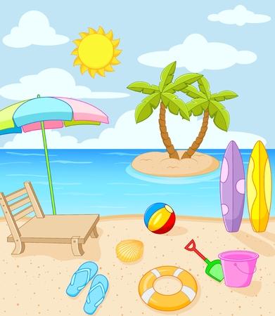 Tropical beach Stock Illustratie