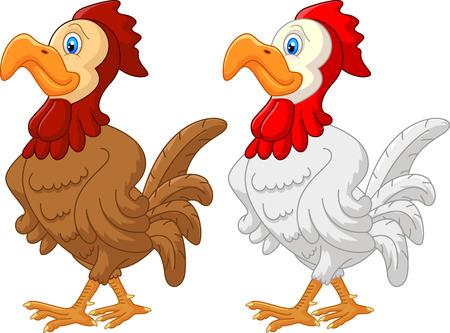 Rooster cartoon  Vector