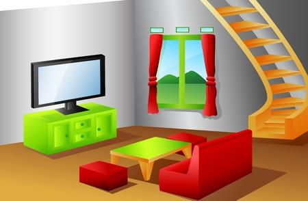 Interieur van een huis woonkamer Stockfoto - 31395352