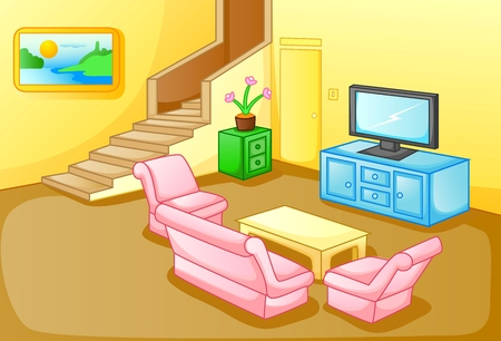 couches: Interior of a house living room