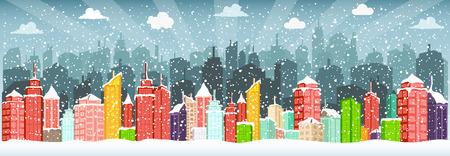 christmas scene: City in winter (Christmas)
