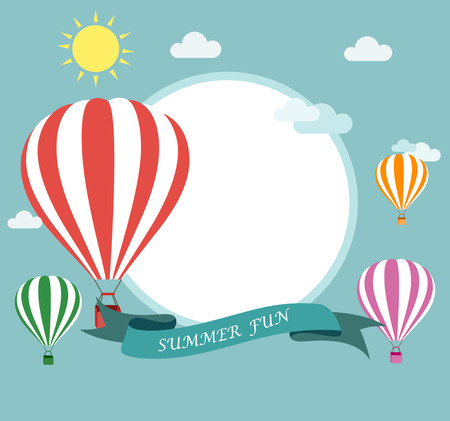 Air balloon flying Vector