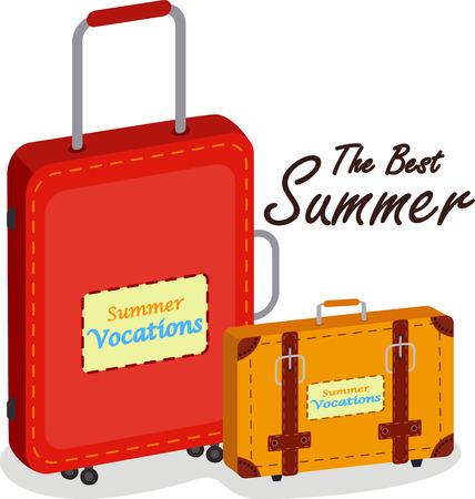 packing suitcase: Borsa da viaggio e dei bagagli