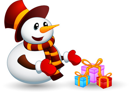coldly: Snowman with gift