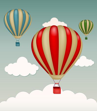 on air sign: Hot air balloon Illustration
