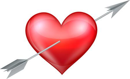 intimate: Heart pierced by arrow
