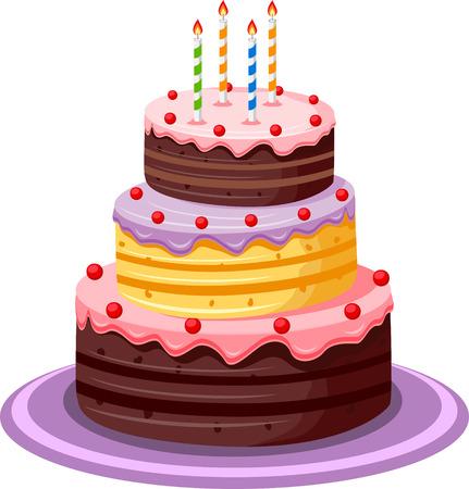 gateau anniversaire: Gâteau d'anniversaire Illustration