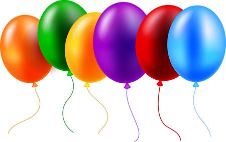party celebration: Birthday balloon Illustration