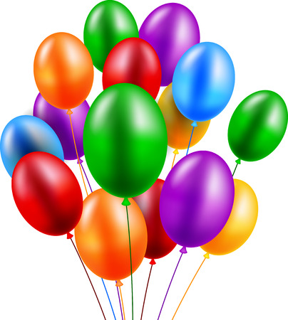 Birthday balloon 일러스트