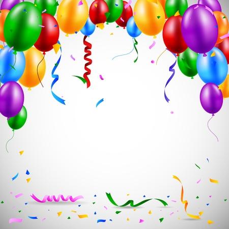 Birthday balloon Illusztráció