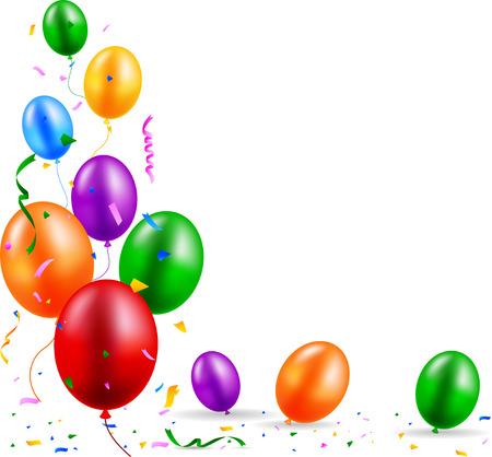 welcoming party: Birthday balloon Illustration