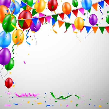Birthday balloon  イラスト・ベクター素材