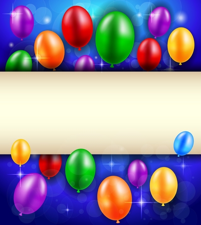 welcoming: Birthday background with blank sign