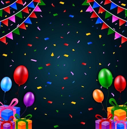 abstract background vector: Happy birthday background