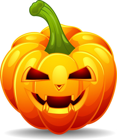 halloween lantern: Cartoon pumpkin Illustration