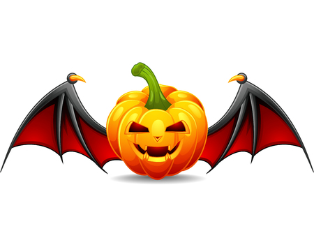 Halloween-Kürbis mit furchtsamem Gesicht Vektorgrafik