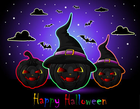 frightful: Happy Halloween Illustration
