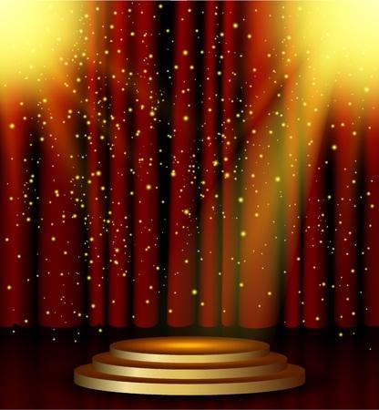 spotlight: Stage lighting background with spotlight effects Illustration
