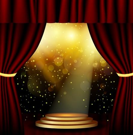 Bühnenbeleuchtung Hintergrund mit Spotlight-Effekte Vektorgrafik