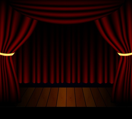 effects of lighting: Stage lighting background with spotlight effects Illustration