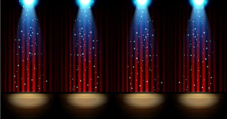 lighting background: Stage lighting background with spotlight effects Illustration