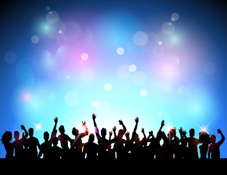 クラブの党の人々  イラスト・ベクター素材