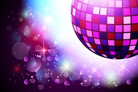 Sparkling boule disco. Soirée
