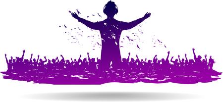 multitud gente: Parte de personas en clubes y conciertos