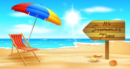 Playa y mar tropical con sol brillante