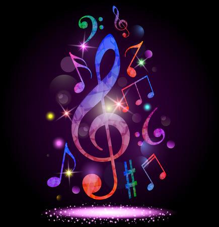 Kleurrijke muziek achtergrond Stockfoto - 77728003