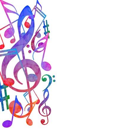 Fondo colorido de la música
