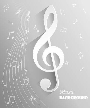 musical background: Abstract musical background with notes