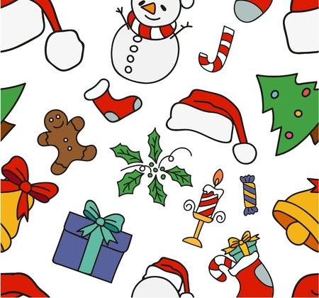christmas greeting: Christmas seamless greeting card Illustration