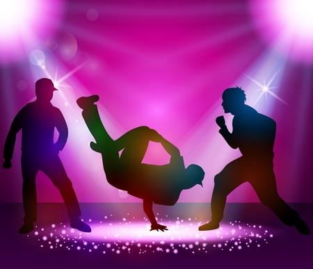 Break dancer performance