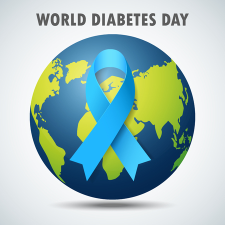 Vector illustration of World Diabetes Day Concept Vettoriali