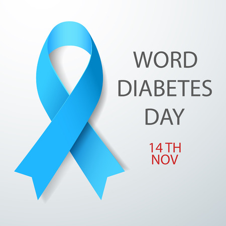 Vector illustration of World Diabetes Day Concept 矢量图像