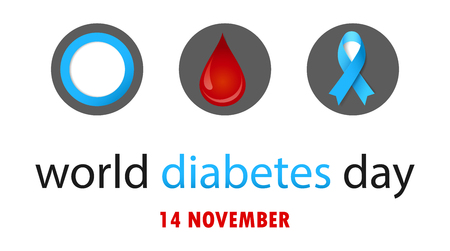 World diabetes day banner concept design. Illustration
