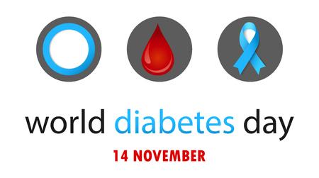 World diabetes day banner concept design. Çizim