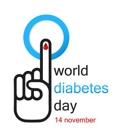 World diabetes day banner concept design. Vectores