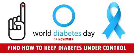 Illustration of World Diabetes Day Concept vector.